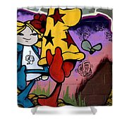 Graffiti 11 Shower Curtain