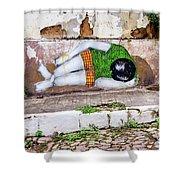 Graffiti Art Lencois Brazil Shower Curtain