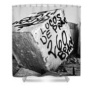 Graffiti Block Shower Curtain