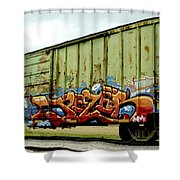 Graffiti Boxcar Shower Curtain by Danielle Allard