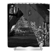 Graffiti Bridge Shower Curtain