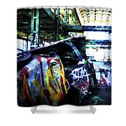 Graffiti Car Shower Curtain