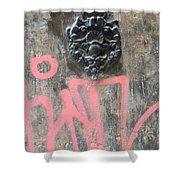 Graffiti Door Knocker Shower Curtain