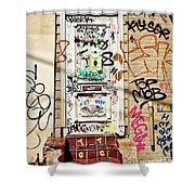Graffiti Doorway New Orleans Shower Curtain