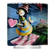 Graffiti Girl Shower Curtain