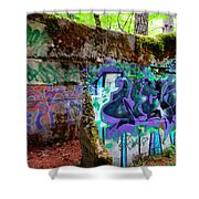 Graffiti Illusion Shower Curtain