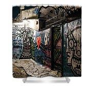 Graffiti In Plaka I Shower Curtain by James Billings