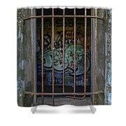 Graffiti Is Barred Shower Curtain