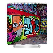 Graffiti London Style Shower Curtain
