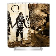 Graffiti Love Shower Curtain