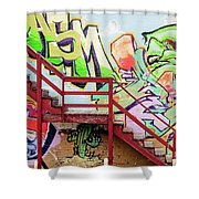 Graffiti Steps Shower Curtain