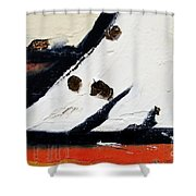 Graffiti Texture I Shower Curtain by Ray Laskowitz - Printscapes