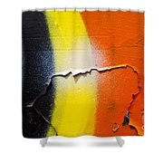 Graffiti Texture Iv Shower Curtain by Ray Laskowitz - Printscapes