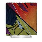 Graffiti Wall Shower Curtain