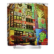 Graffitti On New York City Building Shower Curtain