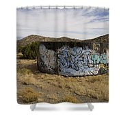 Grafitti In The Middle Of Nature Shower Curtain