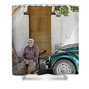 Graham And His Beetle  Shower Curtain