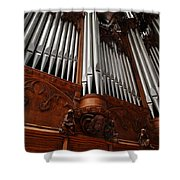 Graham Chapel Pipes Shower Curtain