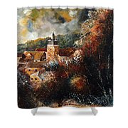 Graide Village Belgium Shower Curtain