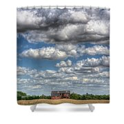 Grain Barn And Barley Field Shower Curtain
