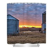 Grain Bin Sunset 2 Shower Curtain