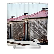 Grain Bins Color Shower Curtain