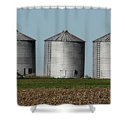 Grain Bins In A Row Shower Curtain