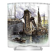 Grain Elevator, 1877 Shower Curtain