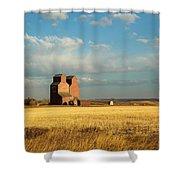 Grain Elevators Stand In A Prairie Shower Curtain