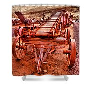 Grain Sack Loader Shower Curtain