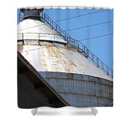 Grain Silo In Roswell Shower Curtain