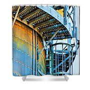 Grain Tower Stairs Shower Curtain