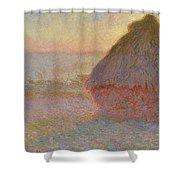 Grainstack, Sunset Shower Curtain