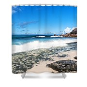 Grand Anse Beach Shower Curtain