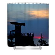 Grand Bend Silhouettes Shower Curtain