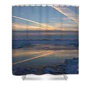 Grand Bend Winter Reflections 2 Shower Curtain