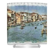 Grand Canal In Venice Shower Curtain