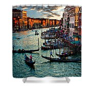 Grand Canal Sunset Shower Curtain