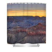 Shimmering Warmth In Panoramic Shower Curtain