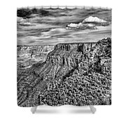 Grand Canyon In Black And White Shower Curtain