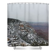 Grand Canyon In Snow Shower Curtain