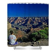 Grand Canyon Meditation Shower Curtain