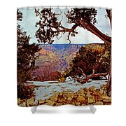 Grand Canyon National Park - Winter On South Rim Shower Curtain