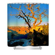 Grand Canyon National Park Winter Sunrise On South Rim Shower Curtain