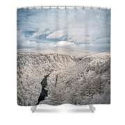 Grand Canyon Of Pa In Infrared Shower Curtain