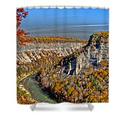 Grand Canyon Of The East Shower Curtain