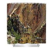 Grand Canyon Of The Yellowstone From North Rim Drive Shower Curtain