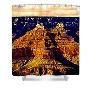 Grand Canyon Painting Sunset Shower Curtain