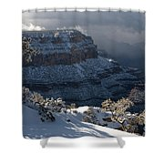 Grand Canyon Storm Shower Curtain by Sandra Bronstein