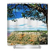 Grand Canyon View From South Rim Overlook Shower Curtain